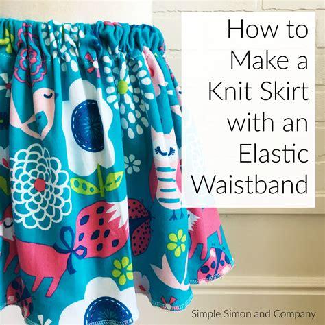 how to make waist how to make a knit elastic waistband skirt a simple
