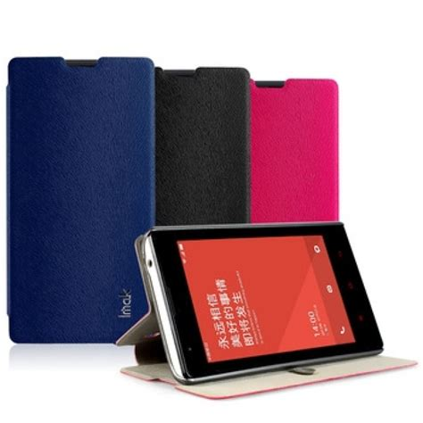 Leather Casing Kulit Flip Wallet Cover Xiaomi Redmi 4 Imak Flip Leather Cover Series For Xiaomi Redmi 1s