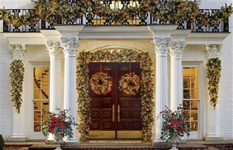 christmas decorating outdoor columns exclusive outdoor decoration inspirations godfather style