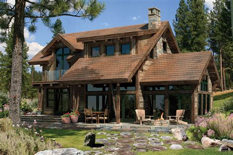 rustic timber frame house plans clearwater timber frame home plan