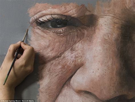 painting realistic michael sydney s portraits look like photos but are