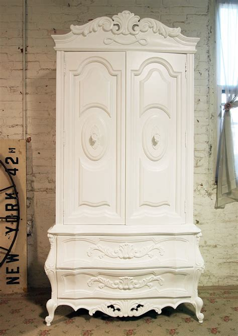 shabby chic armoire painted cottage chic shabby french armoire by paintedcottages