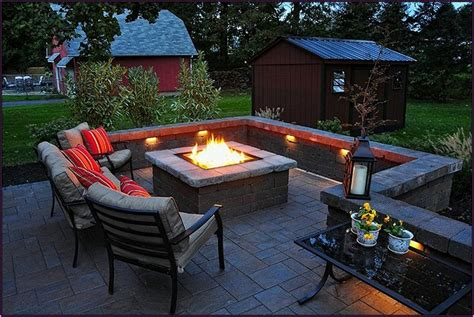 Outdoor Patio Firepit Backyard Pit Ideas With Simple Design