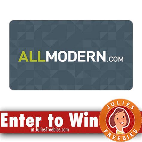 Modern Gift Cards - win a 300 00 all modern gift card julie s freebies