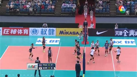 film thailand vs korea set 3 thailand vs korea 2015 avc asian women s volleyball