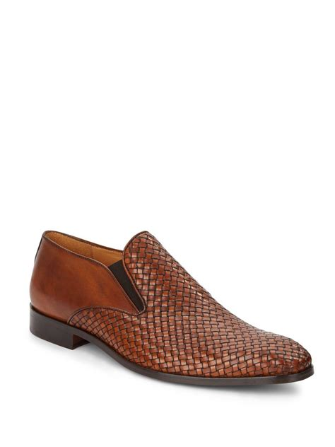 woven leather loafers saks fifth avenue woven leather loafers in