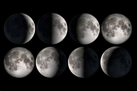 moon phase lunar month lunation synodic month