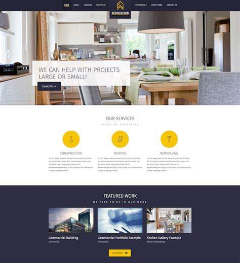 renovation theme 20 best construction company wordpress themes 2016