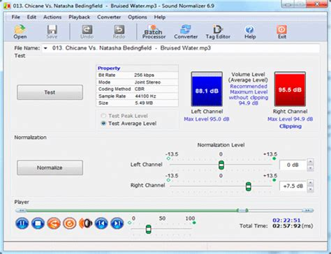 best mp volume leveling software mp3 mp4 flac wav aac ogg ape normalizer converter resizer