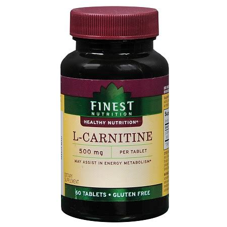 supplement l carnitine finest nutrition l carnitine 500 mg dietary supplement
