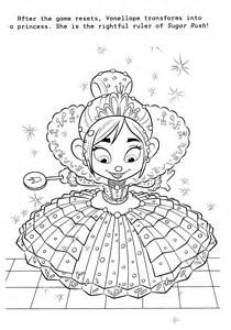 Wreck It Ralph Coloring Page Of Vanellope In Her Dress Wreck It Ralph Vanellope Coloring Pages