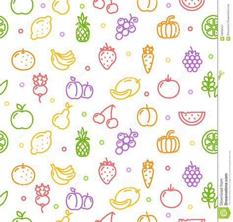 c fruit plano teste padr 227 o do fundo das frutas e legumes vetor