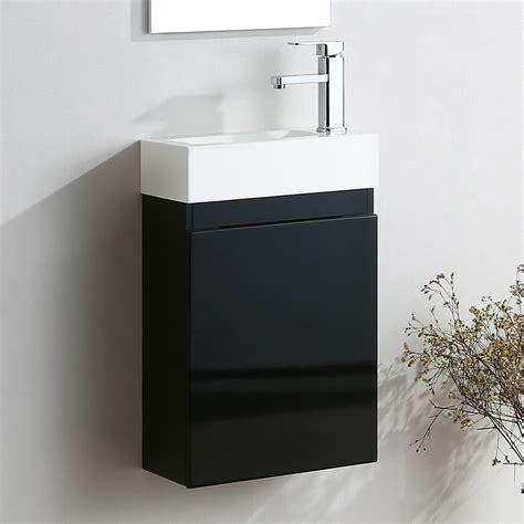 Felix Black Cloakroom Bathroom Suite Toilet White Basin Black Vanity Units For Bathroom