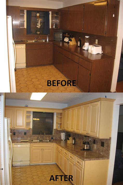 Relaminating Kitchen Countertops by Before After Pictures Kitchen Refacing Specialist Inc