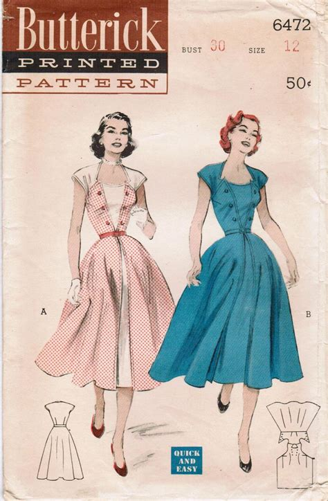 vintage pattern butterick butterick 6472 patterns sewing patterns and vintage