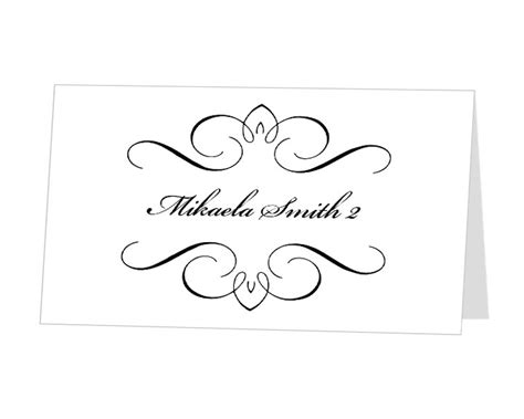 printable place cards template items similar to instant computer editable