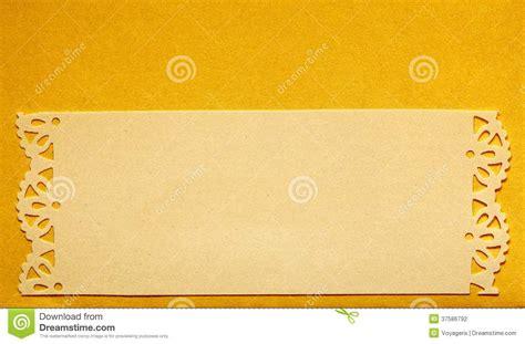 Wedding Invitation Banner Card by Wedding Invitation Card Paper Cutting Design Stock Photo
