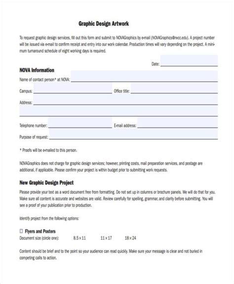 graphic design forms order form graphic design