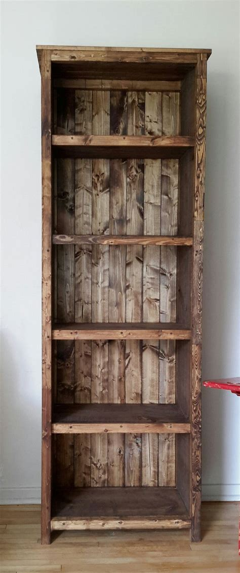 25 best ideas about rustic bookshelf on
