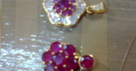 Liontin Batu Rubby liontin batu ruby souvenir kaltim