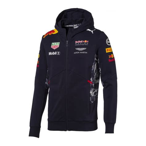 Jaket Hoodie Sweater Sebastian Vettel F1 Racing Signature Logo official bull racing hooded sweatjacket 2017