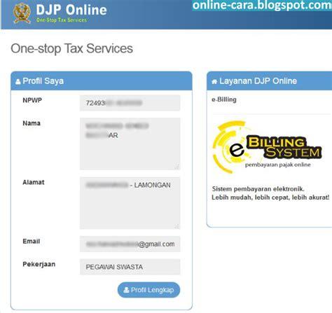 email djp cara daftar pajak online e filing cara online