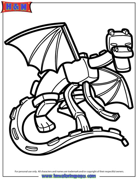 minecraft ender dragon coloring page ender dragon coloring page h m coloring pages
