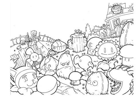 desenho de plantas desenho de plantas de plants vs zombies para colorir
