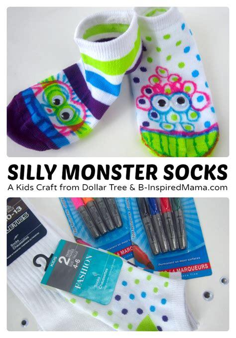 silly socks craft sponsored by dollar tree b inspired