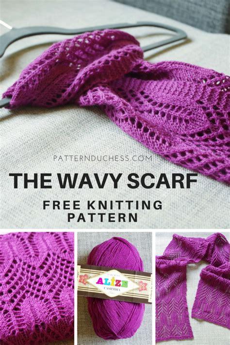 casting off in pattern knitting free lace knitting pattern the wavy scarf pattern duchess