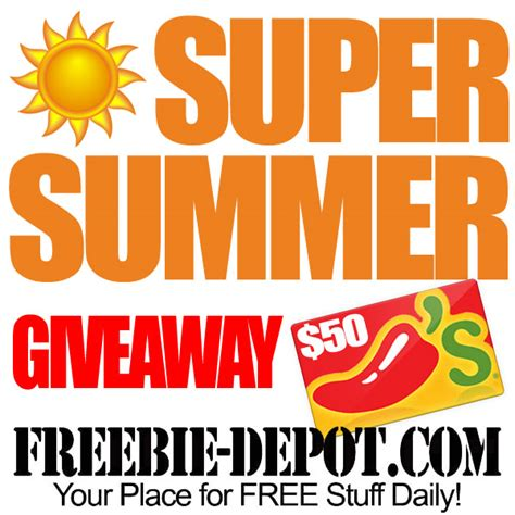 Free Giveaway Contests - free super summer giveaway free chili s gift contest through 7 15 15
