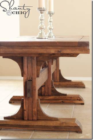 diy dining table pedestal farmhouse shanty 2 chic