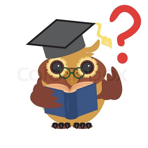 Owl Decor For Home nice owl and question stock vector colourbox