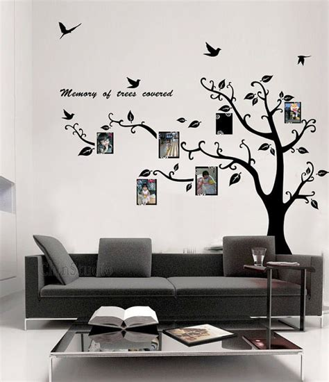 stickers for the wall memory of tree covered photo frame wall sticker wallstickerdeal