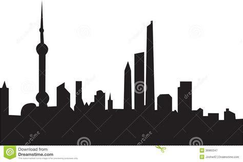 Shanghai Clip shanghai skyline stock illustration illustration of