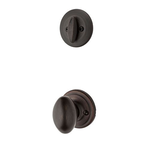Kwikset Interior Door Knobs Shop Kwikset Aliso 1 3 4 In Venetian Bronze Single Cylinder Knob Entry Door Interior Handle At