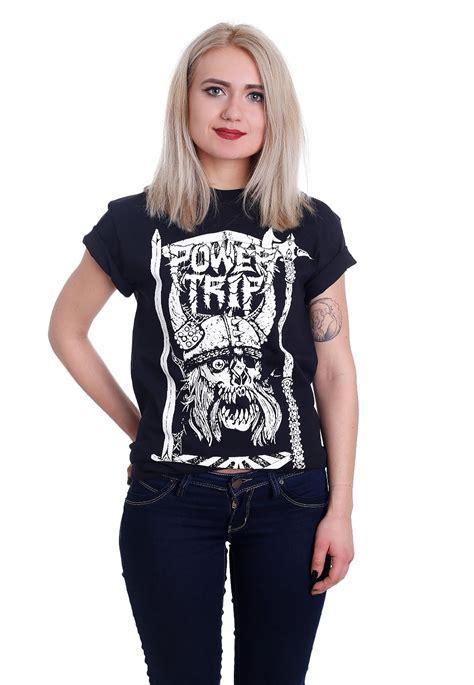 Blouse Skull Trip power trip viking skull t shirt official merchandise shop impericon worldwide