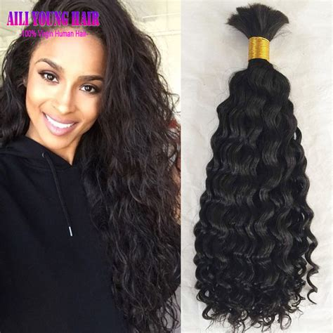 popular loose curl wig buy cheap loose curl wig lots from best selling loose kinky curly human braiding hair bulk no