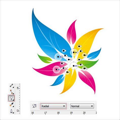 corel draw x5 designs colorful floral logo design in corel draw tutorial corel