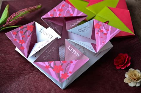 Origami Invitation - origami wedding invitations vertabox