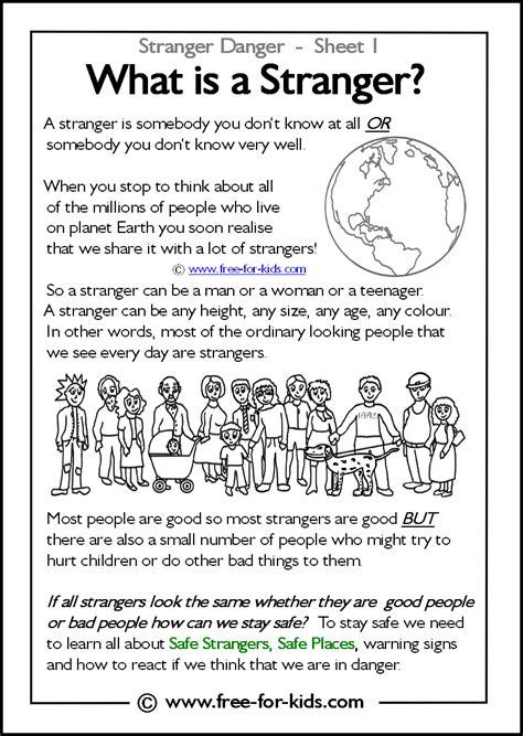 Danger Worksheets by Danger Keeping Our Children Safe End Mc