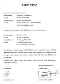 contoh surat kuasa pengambilan yang benar