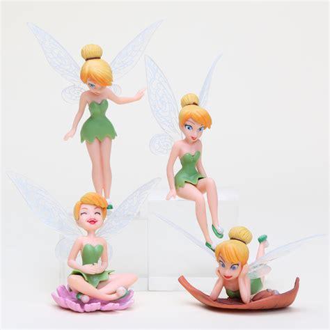 Figure Wings 4pcs set tinker bell figure wings beautiful faery vinyl doll toys tinkerbell figures 4