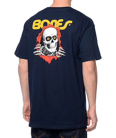 Bones T Shirt bones ripper navy t shirt