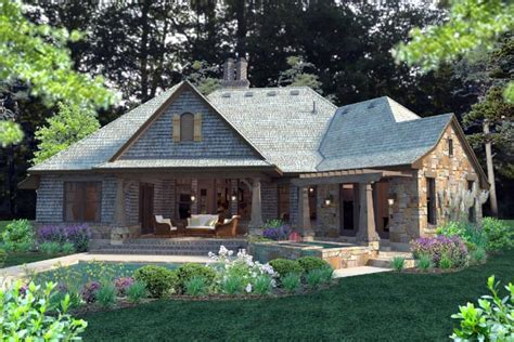 cottage craftsman country house plan 75134