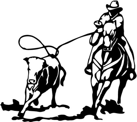 cutting horse coloring page team roping clip art cliparts co