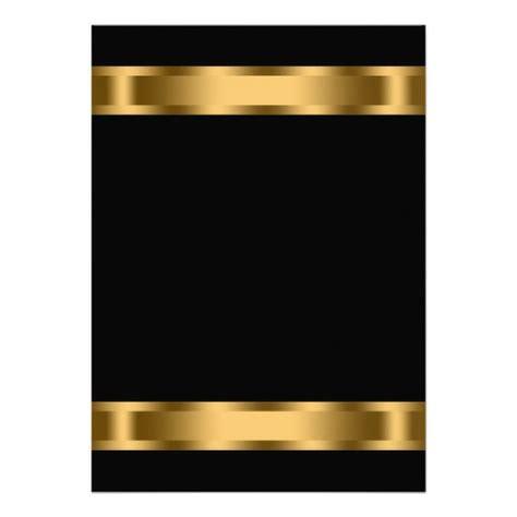Black gold black corporate party invitation templates
