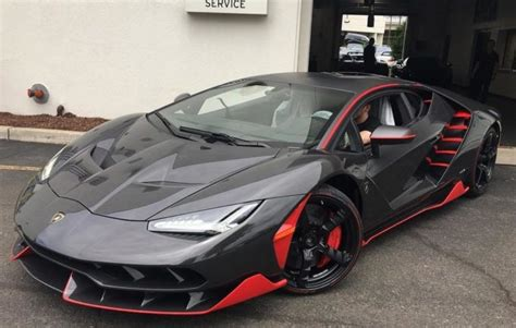 Red and Black Lamborghini Centenario Delivered in New Jersey