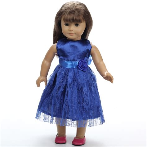 Handmade 18 Doll Clothes - 2016new blue doll dress handmade doll clothes 18 quot 18 inch