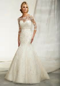 sleeve gown wedding dress beautiful wedding dresses with 3 4 sleeves cherry